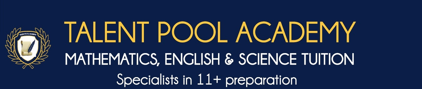 Talent Pool Academy                                                                              07772922943